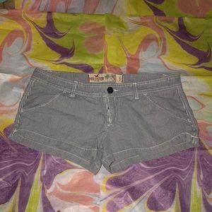 Hollister Broken Zipper Blue&White Short Shorts 5